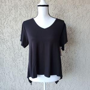 Betsey Johnson Black Pajama Top, size Medium
